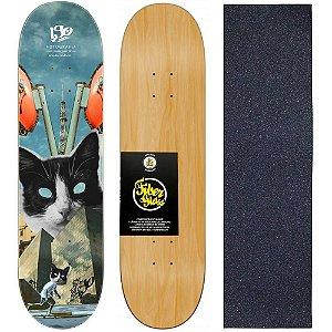 Shape de Skate Profissional Wood Light 8.0 Collab Iso - Cat + Lixa de Brinde