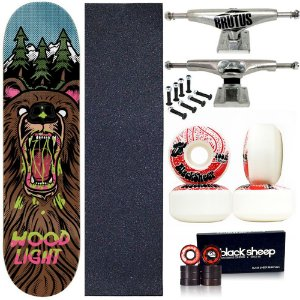 Skate Profissional Completo Shape Wood Light 8.0 Bear