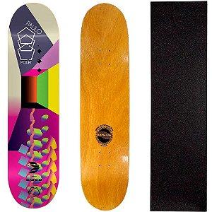 Shape Profissional Cisco Skate Paulo Piquet Art Color 8.25 + Lixa de Brinde