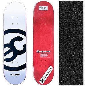 Shape Profissional Maple Skate Nineclouds White 8.0 (Grátis Lixa Importada)