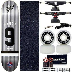 Skate Completo Shape Maple Kronik NBA Wagner Ramos 7.9