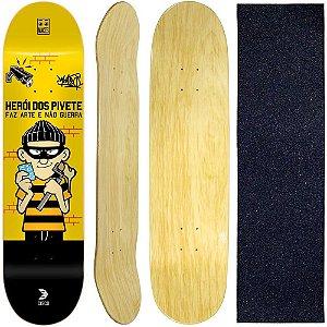 Shape Cisco Skate Marfim Pivete 8.0 + Lixa de Brinde