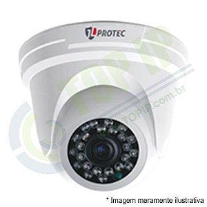 Câmera Infra Dome 4 em 1 JL PROTEC 3,6MM 2010 (AHD, HDCVI, HDTVI E ANALÓGICA)