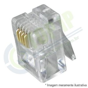 Conector RJ11 - 10 unidades