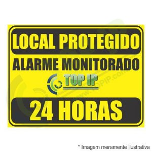 Placa De Advertência - Alarme Monitorado Top Ip