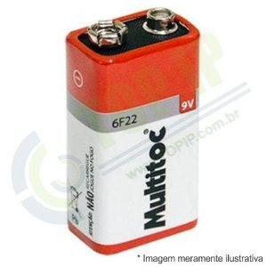 Bateria 9v 6F22 MULTITOC