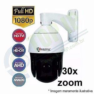 Speed Dome JL PROTEC Full HD 2.0 MP 4 em 1 (AHD/HDCVI/HDTVI/ANALÓGICO)
