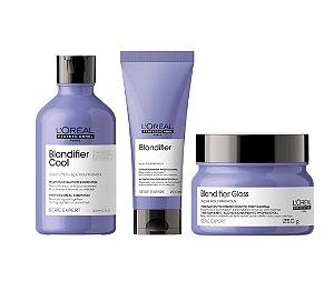 Kit L'Oréal Blondifier Cool - Shampoo, Condicionador e Máscara