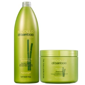 Kit Alfaparf Midollo di Bamboo Grande - Shampoo + Máscara