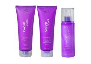 Kit K.Pro Caviar - Shampoo + Condicionador + Leave-in