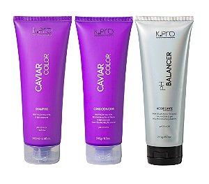 Kit K.Pro Caviar - Shampoo + Condicionador + PH Balancer