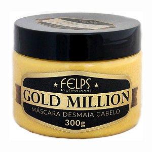 Felps Gold Million Desmaia Cabelo - Máscara Capilar 300g