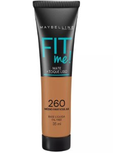 Maybelline Fit Me! Matte - Base Liquida, 260 Médio Particular 35ml