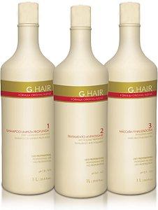 G.Hair Kit Escova Alemã - 3 Produtos 1000ml
