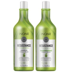 Inoar Kit Résistance Fibra de Bambu - Shampoo e Condicionador 1000ml