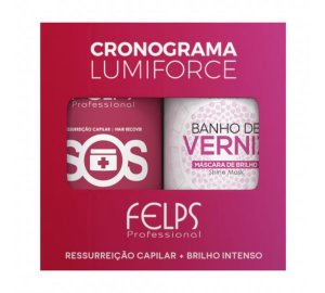 Felps Cronograma Capilar Kit Lumiforce 2x1000g