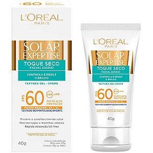 L'Oréal Paris Solar Expertise Facial Toque Seco FPS 60 - Protetor Solar 40g