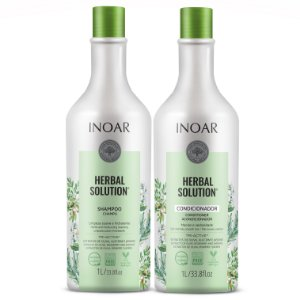 Inoar Kit Herbal Solution - Shampoo e Condicionador 1000ml