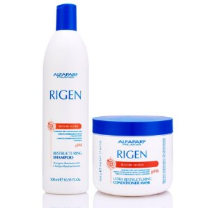Kit Alfaparf Rigen Restore - Shampoo 500ml + Máscara 500ml