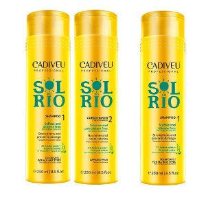 Kit Cadiveu Sol do Rio - 2 Shampoos 250ml + 1 Condicionador 250ml