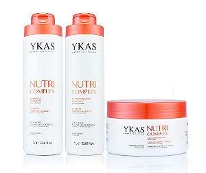 Kit Ykas Nutri Complex - Shampoo + Condicionador + Máscara