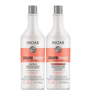 Inoar Kit Cicatripontas - Shampoo e Condicionador 1000ml