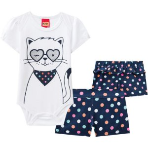 CONJUNTO BODY MANGA CURTA CAT KYLY