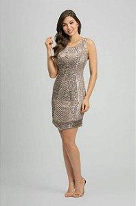 vestido curto prata