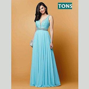 vestido longo tiffany rodado