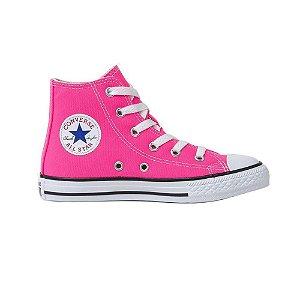 Tênis Converse Chuck Taylor All Star Kids Hi Rosa Choque