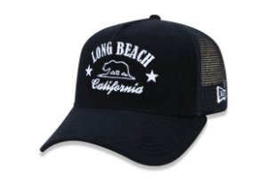 Boné New Era 940 Aba Curva Trucker Long Beach - Snapback