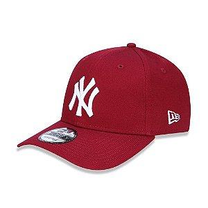Boné New Era 940 New York Yankees Aba curva - Vermelho