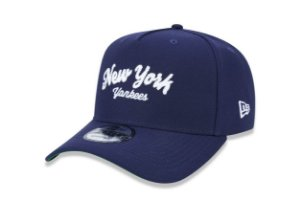 Boné New Era 940 Aba Curva Script Yankees - Snapback