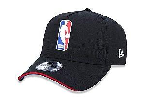 Boné New Era 3930 Aba Curva NBA Logo - Fechado