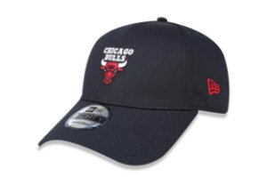 Boné New Era 940 Aba Curva Chicago Bulls Mini Logo - Snapback