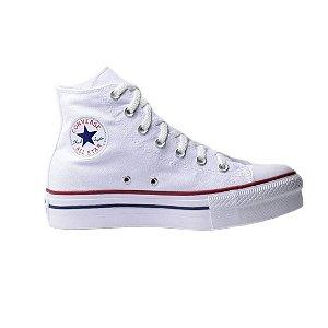 Tênis Converse Chuck Taylor All Star Cano Alto Plataforma - Branco