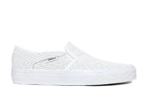 Tênis Vans Asher Slip-on Perf Leather