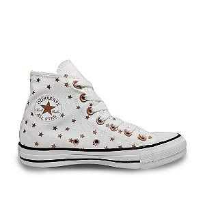 Tênis Converse Chuck Taylor All Star Hi - Estrelado Branco