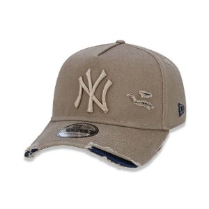 Boné New Era 940 Destroyed New York Yankees Kaki - Strapback