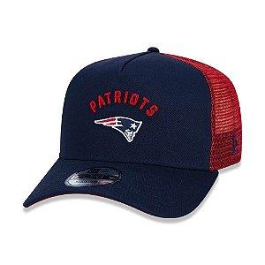 Boné New Era 940 New England Patriots Marinho/Vermelho Trucker - Snapback