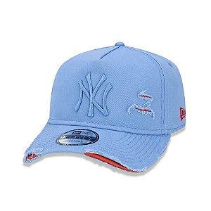 Boné New Era 940 New York Yankees Destroyed - Azul