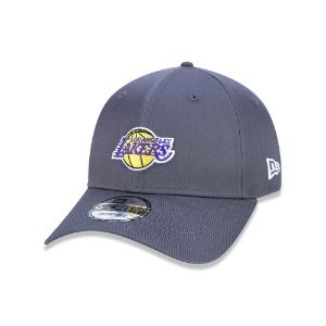 Boné New Era 940 Los Angeles Lakers Aba curva - Chumbo