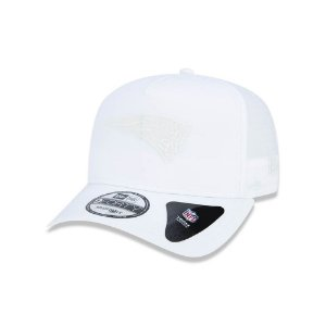 Boné New Era 940 New England Patriots Trucker White Logo - Branco