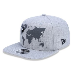 Boné New Era 950 Original Fit Mapa Mundi - Cinza