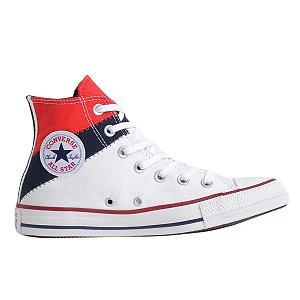 Tênis Converse Chuck Taylor All Star Hi Tri Split - Branco/Vermelho