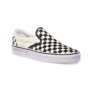Tênis Vans Slip-On Clássico - Preto/Branco