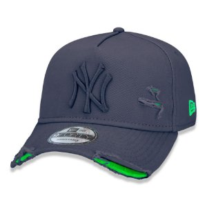 Boné New Era 940 Aba Curva Destroyed New York Yankees - Strapback