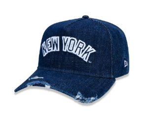 Boné New Era 940 Denim Applique New York