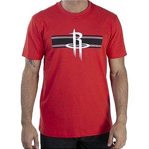 Camiseta New Era Essentials Stripe Houston Rockets