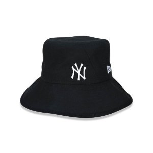 Chápeu Bucket New Era New York Yankees Logo - Preto